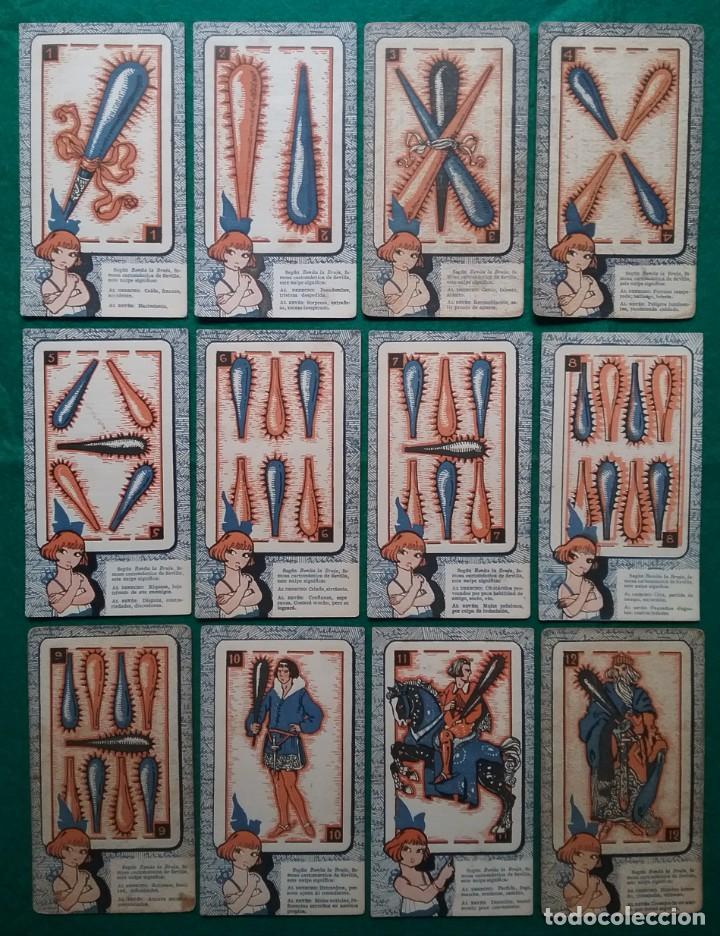 Barajas de cartas: TAROT CARTOMANCIA NAIPES JUEGO DE CARTAS BENITA LA BRUJA PUBLICIDAD CHOCOLATE NELIA CIRCA 1920 - Foto 3 - 220236242