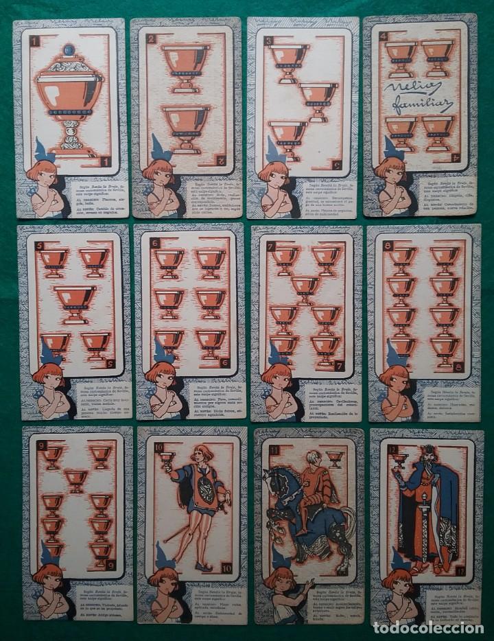 Barajas de cartas: TAROT CARTOMANCIA NAIPES JUEGO DE CARTAS BENITA LA BRUJA PUBLICIDAD CHOCOLATE NELIA CIRCA 1920 - Foto 4 - 220236242
