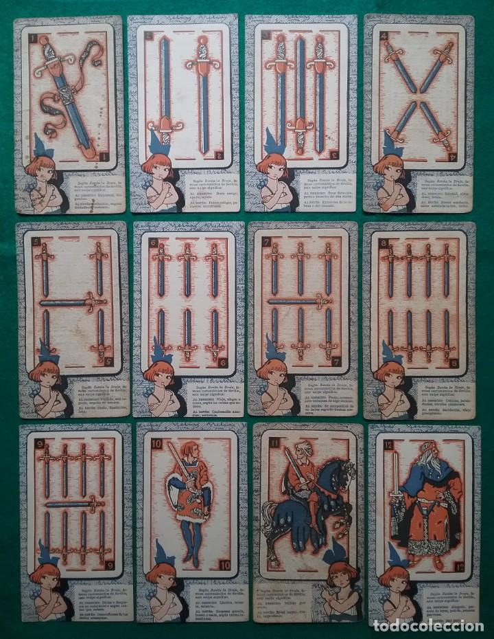 Barajas de cartas: TAROT CARTOMANCIA NAIPES JUEGO DE CARTAS BENITA LA BRUJA PUBLICIDAD CHOCOLATE NELIA CIRCA 1920 - Foto 5 - 220236242