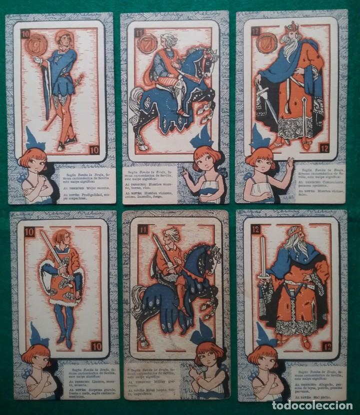 Barajas de cartas: TAROT CARTOMANCIA NAIPES JUEGO DE CARTAS BENITA LA BRUJA PUBLICIDAD CHOCOLATE NELIA CIRCA 1920 - Foto 8 - 220236242