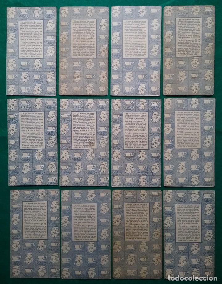 Barajas de cartas: TAROT CARTOMANCIA NAIPES JUEGO DE CARTAS BENITA LA BRUJA PUBLICIDAD CHOCOLATE NELIA CIRCA 1920 - Foto 10 - 220236242