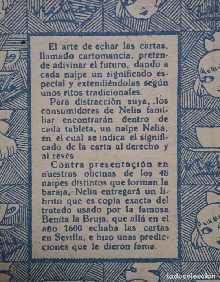 Barajas de cartas: TAROT CARTOMANCIA NAIPES JUEGO DE CARTAS BENITA LA BRUJA PUBLICIDAD CHOCOLATE NELIA CIRCA 1920 - Foto 13 - 220236242