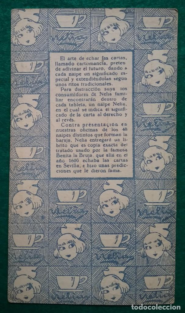 Barajas de cartas: TAROT CARTOMANCIA NAIPES JUEGO DE CARTAS BENITA LA BRUJA PUBLICIDAD CHOCOLATE NELIA CIRCA 1920 - Foto 14 - 220236242