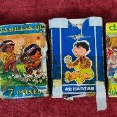 Barajas de cartas: COLECCIÓN DE JUEGOS DE CARTAS INFANTILES. 8 BARAJAS. ESPAÑA. AÑOS 60/70.. Lote 220250990