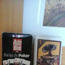 Barajas de cartas: 2 BARAJAS DE WALL.E Y DE POKER DE COCHES. Lote 220262423