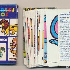 Baralhos de cartas: JUEGO INFANTIL BARAJA ANIMALES LOCOS.32 CARTAS. HERACLIO FOURNIER 1980. Lote 220475738