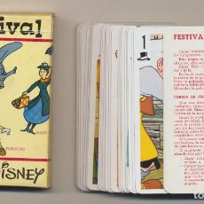Baralhos de cartas: BARAJA FESTIVAL WALT DISNEY. 48 CARTAS. HERACLIO FOURNIER 1966. Lote 220475983