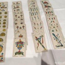 Barajas de cartas: BARAJA PINILLOS DE VALLEJO SIRENAS MITOLÓGICAS AÑO 1845 48 NAIPES. Lote 220670607