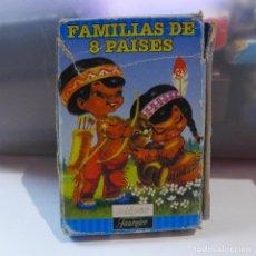 Barajas de cartas: BARAJA INFANTIL DE NAIPES FAMILIAS DE 8 PAISES DE FOURNIER. Lote 220894293