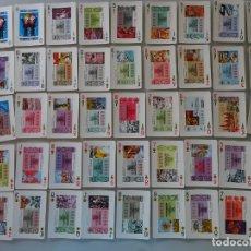 Barajas de cartas: BARAJA DE CARTAS ESPAÑOLA. FOURNIER. LOTERÍA NACIONAL 1978 RECURSOS NATURALES. DÉCIMOS CUPONES. 140G. Lote 220901730