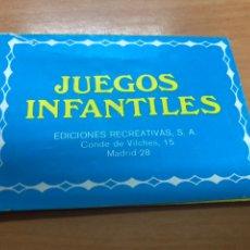 Barajas de cartas: CATALOGO JUEGO INFANTILES EDICIONES RECREATIVAS EL JUEGO DE LAS FAMILIAS,OLIMPO, DE LA ESCOBA ETC. Lote 221124586