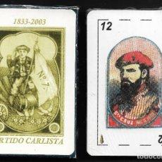 Barajas de cartas: BARAJA EL PARTIDO CARLISTA EN CAJAS DE CERILLAS. Lote 221163293
