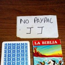 Barajas de cartas: BARAJA DE CARTAS NAIPES HERACLIO FOURNIER LA BIBLIA ANTIGUO TESTAMENTO BUEN ESTADO. Lote 221253355