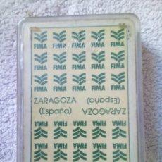 Barajas de cartas: BARAJA ESPAÑOLA DE FOURNIER FIMA (FERIA INTERNACIONAL DE MAQUINARIA AGRICOLA DE ZARAGOZA). Lote 221532310