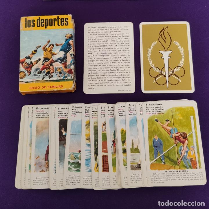 Barajas de cartas: BARAJA INFANTIL FOURNIER. LOS DEPORTES. 1965. COMPLETA. - Foto 4 - 221563571