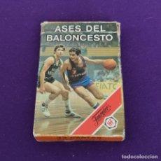 Baralhos de cartas: BARAJA INFANTIL FOURNIER. ASES DEL BALONCESTO. 1985. COMPLETA.. Lote 221564786