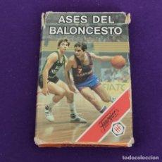 Mazzi di carte: BARAJA INFANTIL FOURNIER. ASES DEL BALONCESTO. 1985. COMPLETA.. Lote 221564877