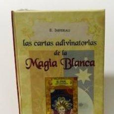 Barajas de cartas: LAS CARTAS ADIVINATORIAS DE LA MAGIA BLANCA. SELLADA SIN USO. Lote 221624256