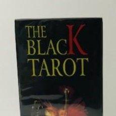 Barajas de cartas: BARAJA THE BLACK TAROT CON LIBRITO INSTRUCCIONES A ESTRENAR. Lote 221624871