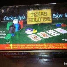 Barajas de cartas: CASINE STYLE TEXAS HOLDE`M POKER SET - VER FOTOS.. Lote 221649435