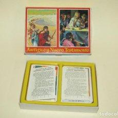 Barajas de cartas: ANTIGUO ESTUCHE CON BARAJAS ESPAÑOLAS LA BIBLIA ANTIGUO Y NUEVO TESTAMENTO DE H. FOURNIER - AÑO 1969. Lote 221770811