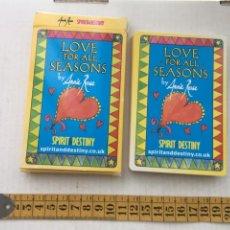 Barajas de cartas: LOVE FOR ALL SEASONS BY ANNIE ROSE SPIRIT & DESTINY CARTAS TIPO TAROT NAIPES KREATEN. Lote 221806822