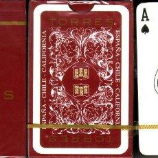 Barajas de cartas: BODEGAS TORRES - ROJA - ASOCIACION CATALANA DE BRIDGE. Lote 221987916