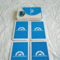 Barajas de cartas: BARAJA CARTAS BUS EL RÁPIDO ARGENTINO ARGENTINA BARAJA BUS EL RAPIDO ARGENTINO , GRUPO PLAZA ARGENT. Lote 222013163
