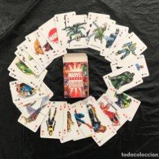 Barajas de cartas: BARAJA MARVEL PANINI 53 NAIPES. HÉROES Y VILLANOS. 2005. NUEVA COMPLETA.. Lote 237080430