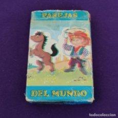 Barajas de cartas: BARAJA INFANTIL FOURNIER. PAREJAS DEL MUNDO. 1981. 33 CARTAS. COMPLETA.. Lote 222032922