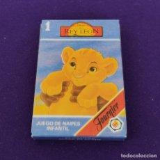 Barajas de cartas: BARAJA INFANTIL FOURNIER. EL REY LEON 1. 1994. 33 CARTAS. COMPLETA. NUEVA. SIN USAR.. Lote 222035115