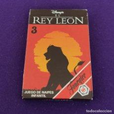 Barajas de cartas: BARAJA INFANTIL FOURNIER. EL REY LEON 3. 1994. 33 CARTAS. COMPLETA. NUEVA. SIN USAR.. Lote 222035148