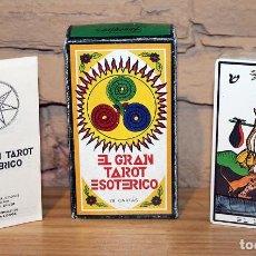Barajas de cartas: EL GRAN TAROT ESOTÉRICO. FOURNIER. 1978. MARITXU GULER / LUIS PEÑA LONGA. NUEVO Y PRECINTADO. Lote 222078987