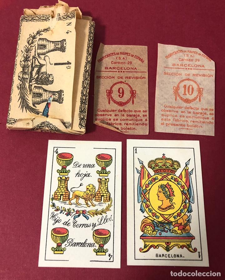 Barajas de cartas: Antigua baraja de Naipes de Pps de S.XX. Hijo de Torras y Lleo. Envoltorio original. - Foto 3 - 222109660