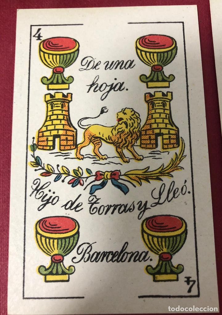 Barajas de cartas: Antigua baraja de Naipes de Pps de S.XX. Hijo de Torras y Lleo. Envoltorio original. - Foto 5 - 222109660