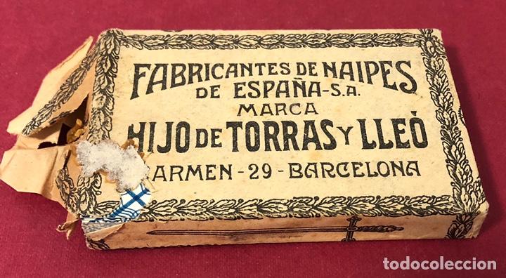 ANTIGUA BARAJA DE NAIPES DE PPS DE S.XX. HIJO DE TORRAS Y LLEO. ENVOLTORIO ORIGINAL. (Juguetes y Juegos - Cartas y Naipes - Baraja Española)