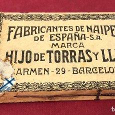 Barajas de cartas: ANTIGUA BARAJA DE NAIPES DE PPS DE S.XX. HIJO DE TORRAS Y LLEO. ENVOLTORIO ORIGINAL.. Lote 222109660