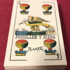 Barajas de cartas: ANTIGUA BARAJA DE NAIPES DE FINALES DE S.XIX, DE PIGUILLEM Y RIERA. FLOR DE CUÑO.. Lote 222111648