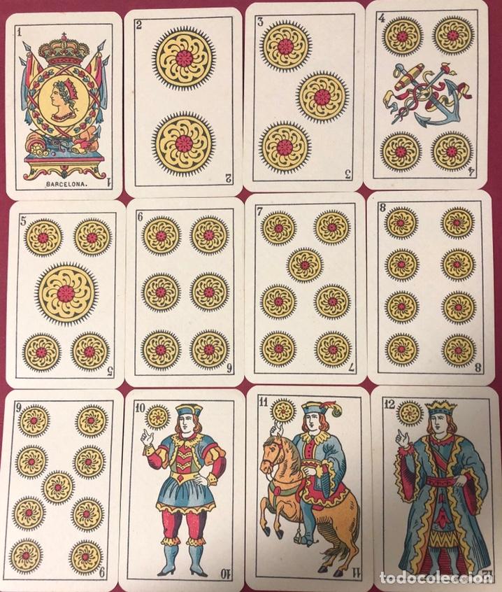 Barajas de cartas: Antigua baraja de naipes de hijo de Torras y Lleo, con timbre de 1,20 pesetas. Perfecto estado. - Foto 2 - 222114695