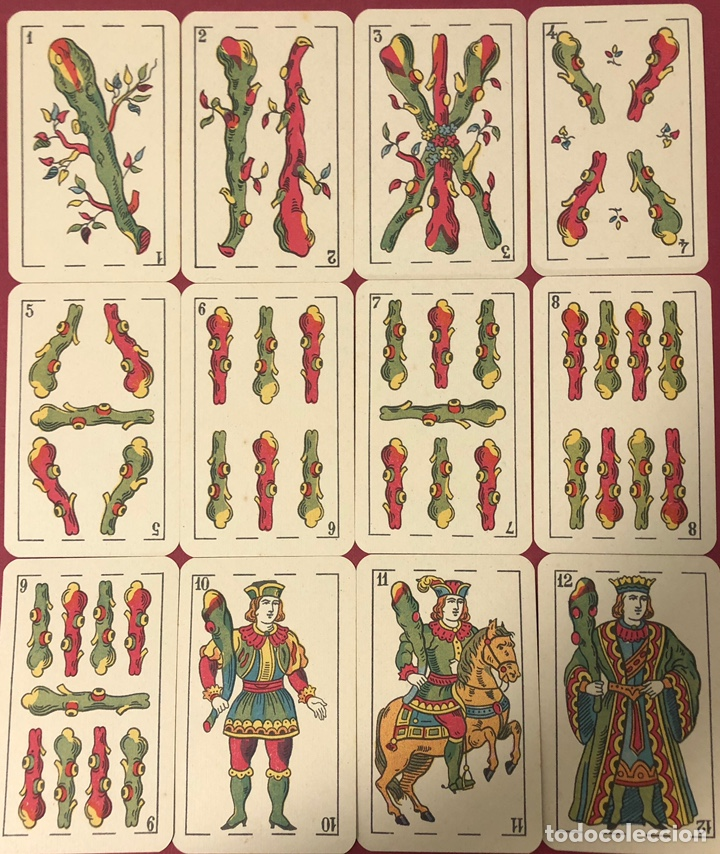 Barajas de cartas: Antigua baraja de naipes de hijo de Torras y Lleo, con timbre de 1,20 pesetas. Perfecto estado. - Foto 6 - 222114695