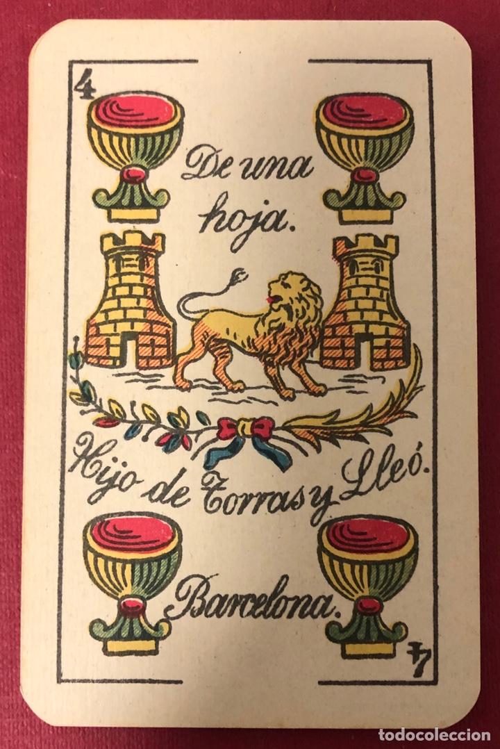 ANTIGUA BARAJA DE NAIPES DE HIJO DE TORRAS Y LLEO, CON TIMBRE DE 1,20 PESETAS. PERFECTO ESTADO. (Juguetes y Juegos - Cartas y Naipes - Baraja Española)