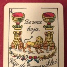 Barajas de cartas: ANTIGUA BARAJA DE NAIPES DE HIJO DE TORRAS Y LLEO, CON TIMBRE DE 1,20 PESETAS. PERFECTO ESTADO.. Lote 222114695