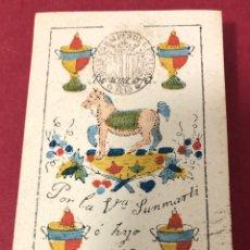 Barajas de cartas: MAGNÍFICA BARAJA DE NAIPES DE 1849, DE VIUDA DE SANMARTI HE HIJO. FLOR DE CUÑO.. Lote 222116575