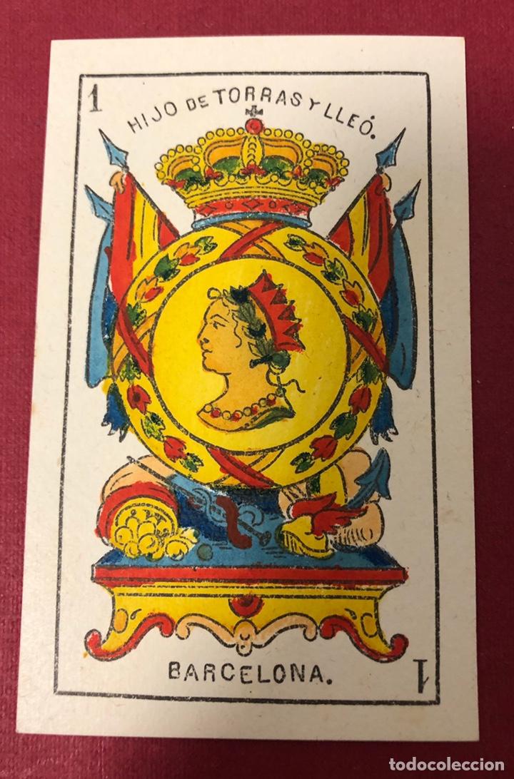 Barajas de cartas: Fantástica baraja de naipes de finales de S.XIX, de Torras y Lleo. Flor de cuño. - Foto 2 - 222123486