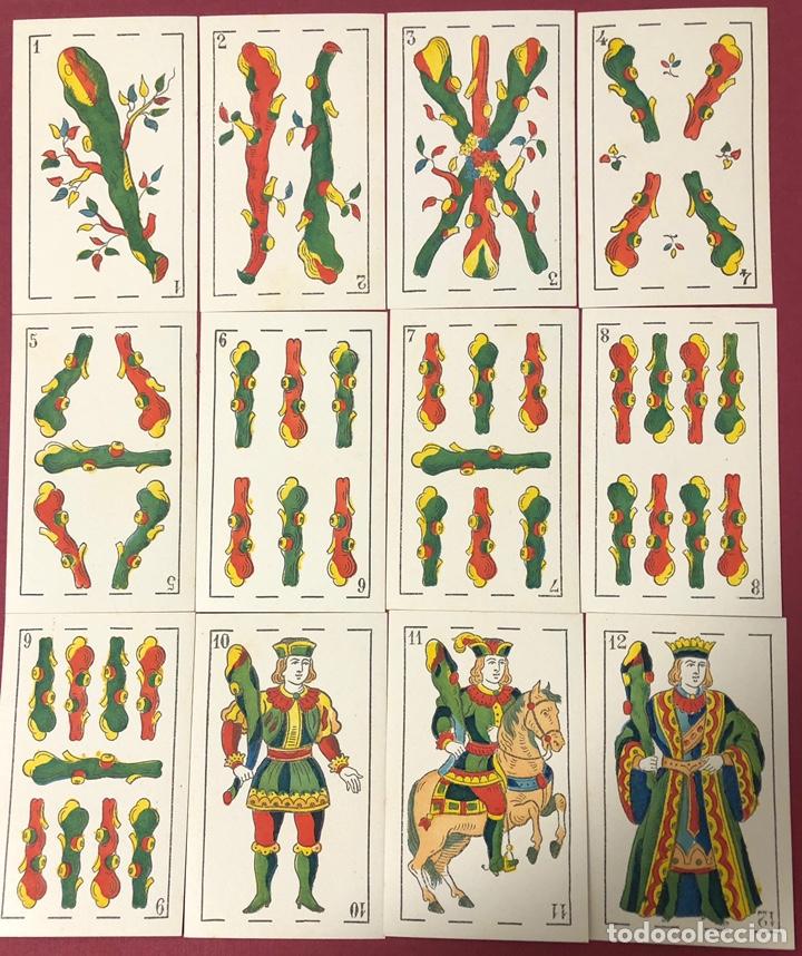 Barajas de cartas: Fantástica baraja de naipes de finales de S.XIX, de Torras y Lleo. Flor de cuño. - Foto 4 - 222123486