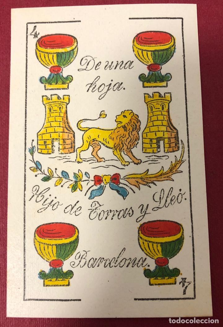 FANTÁSTICA BARAJA DE NAIPES DE FINALES DE S.XIX, DE TORRAS Y LLEO. FLOR DE CUÑO. (Juguetes y Juegos - Cartas y Naipes - Baraja Española)
