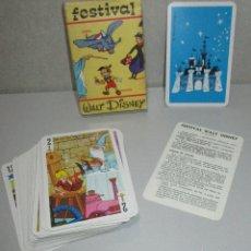 Barajas de cartas: BARAJA INFANTIL HERACLIO FOURNIER FESTIVAL WALT DISNEY, 1966. Lote 222146058