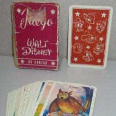 Barajas de cartas: BARAJA INFANTIL HERACLIO FOURNIER JUEGO DE LAS FAMILIAS WALT DISNEY, AÑOS 50-60. Lote 222147193
