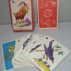 Barajas de cartas: BARAJA INFANTIL EDITORIAL ZARAGOZANO JUEGO DE LAS PAREJAS Nº1 ANIMALES, 1959. Lote 222147783