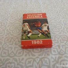 Barajas de cartas: (LLL) BARAJA CARTAS ORIGINAL(1981) SELECCIÓN ESPAÑOLA FUTBOL COMPLETA Y PERFECTO ESTADO. Lote 222152472